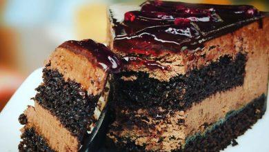 صورة طريقة عمل شوكولاتة بدون طحين وكعكة اللوز